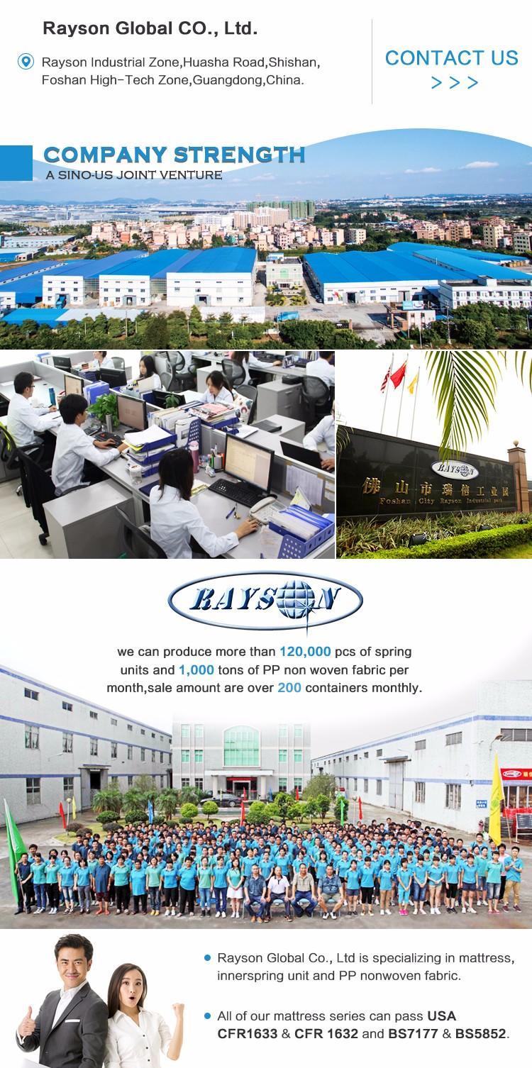 Rayson Mattress Top best memory foam mattress india Suppliers