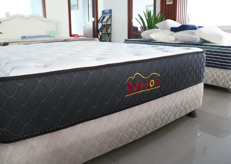 Rayson Mattress-Simple pocket coil sprung mattress double size medium firm tight top-4