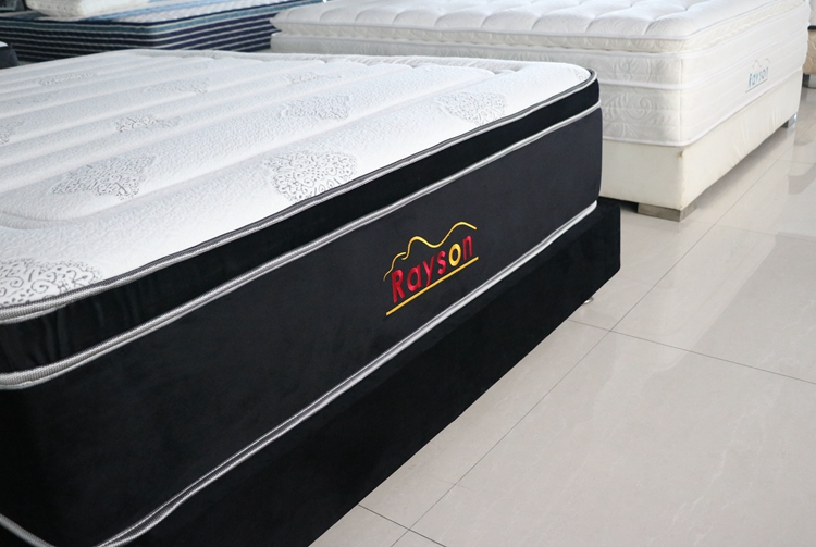 Rayson Mattress-Pocket coil box spring mattress king size firm euro top-3
