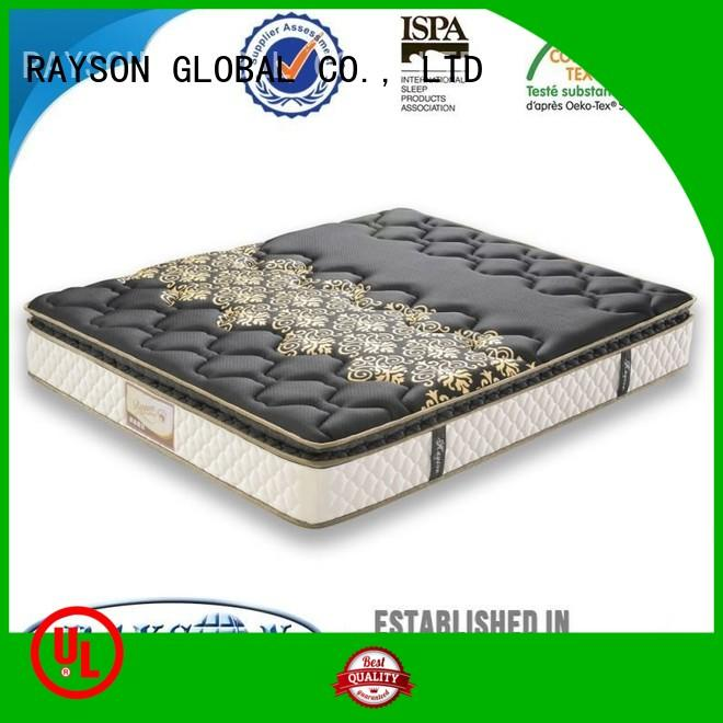 triangle 10inch OEM cooling tufted bonnell spring mattress Rayson Mattress