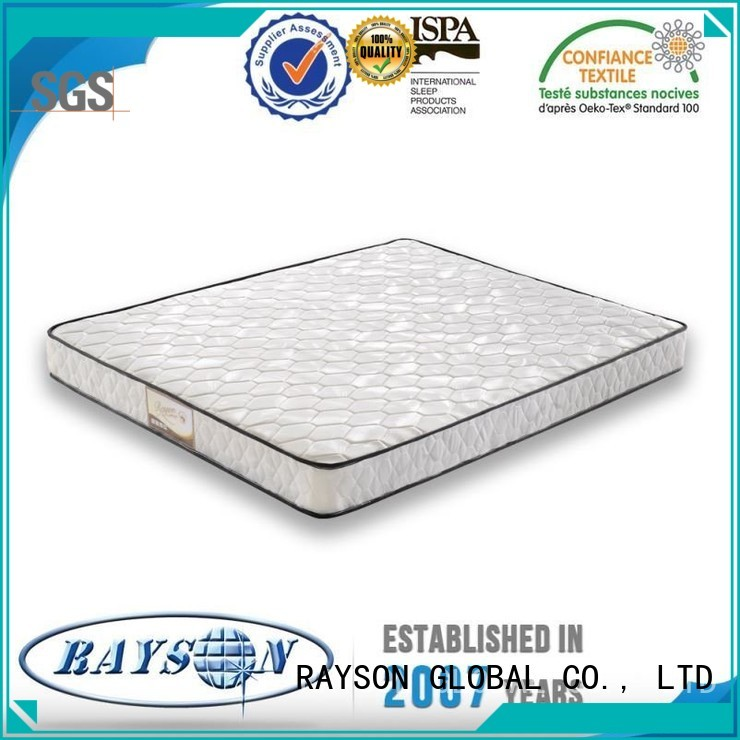 luxury bonnell spring mattress base silk Rayson Mattress Brand company