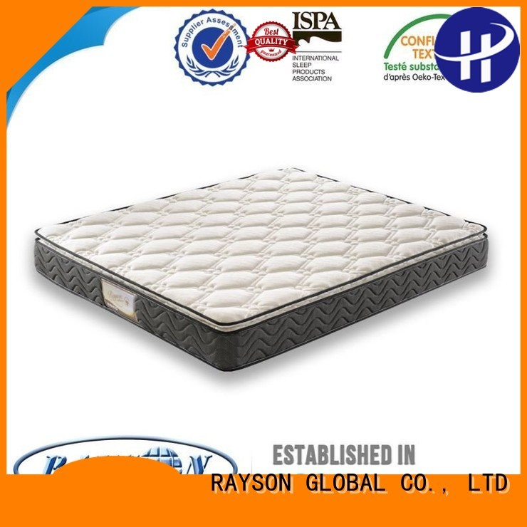 Rayson Mattress Brand wooden economical custom luxury bonnell spring mattress