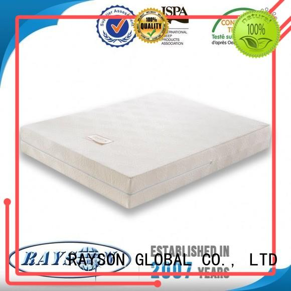 white hard memory foam mattress and bed orthopaedic zone Rayson Mattress company