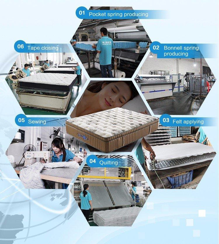 stand knitted memory foam and coil spring mattresses Rayson Mattress manufacture
