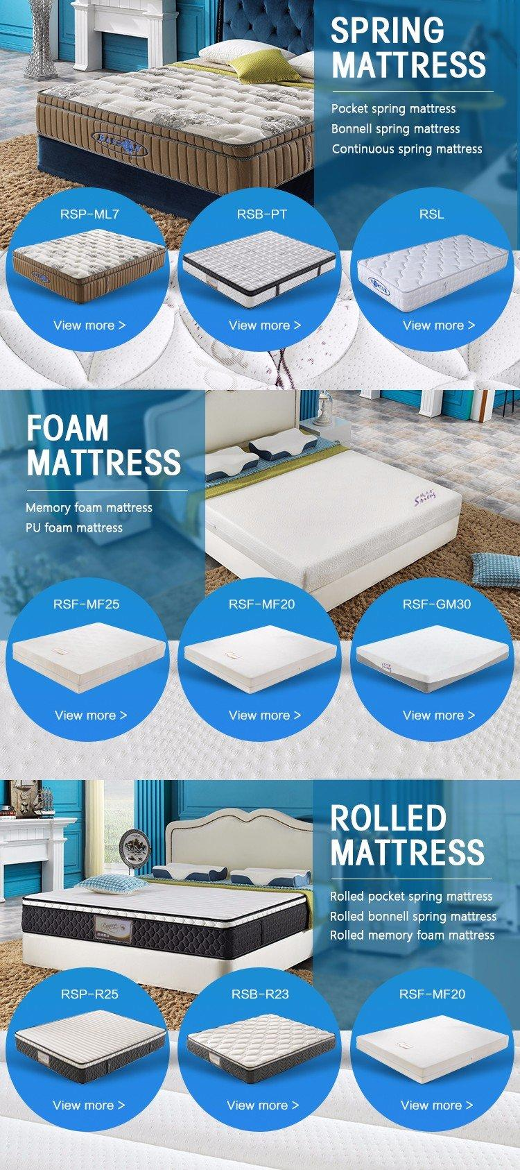 Custom roll up memory foam mattress topper pack Supply