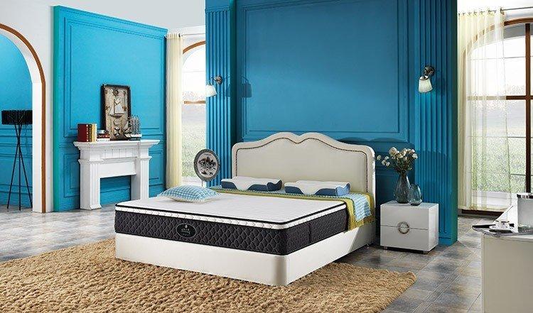 Wholesale 200 polyester top 10 pocket sprung mattress Rayson Mattress Brand