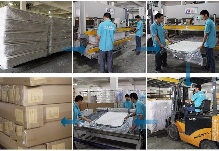 High-quality Rolled bonnell spring mattress high quality manufacturers-13