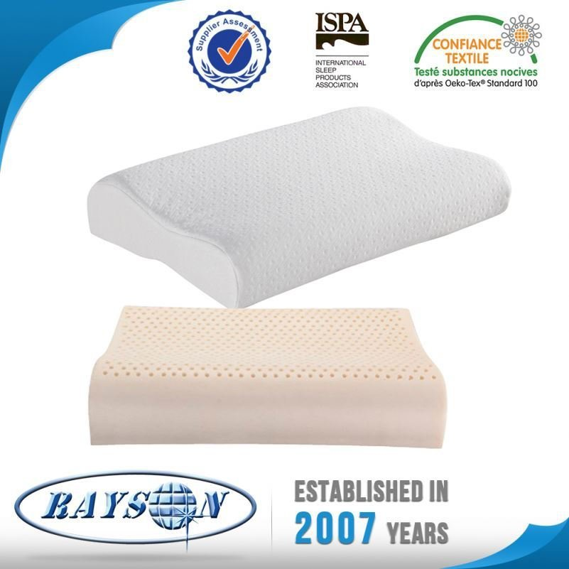 High Quality Lowest Cost Natural Latex Foam Pillow Ventilated Standard Size