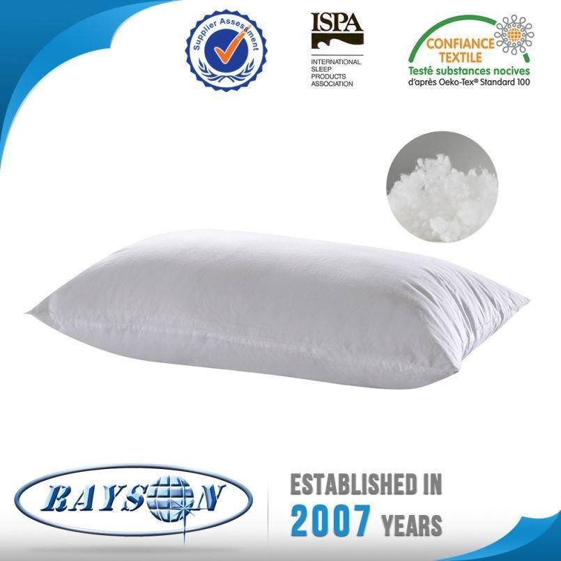 China más vendidos productos dacrón poliéster estándar alta almohada