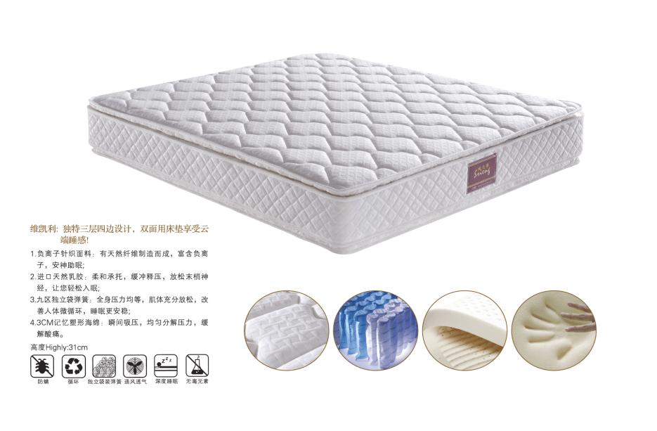 Rayson Mattress-Most Popular Sleep Comfort King Latex Mattress For Hotel Bedroom New latex foam matt-2