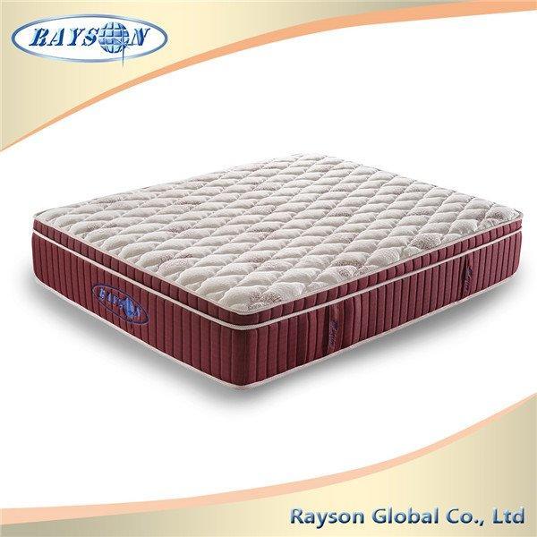 बुना हुआ कपड़ा बेडरूम गद्दे तकिया शीर्ष Visco जेब वसंत इकाई