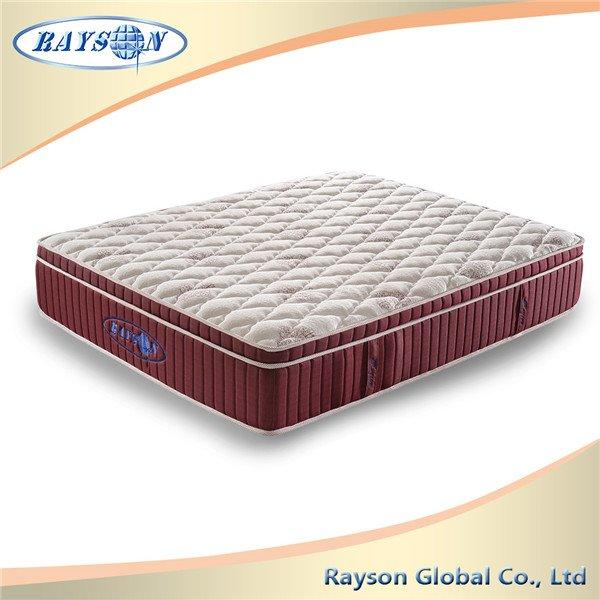 Pillow Top Visco Pocket Spring Unit Knitted Fabric Bedroom Mattress