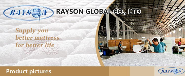 Rayson Mattress-Bedroom Furniture Pillow Top Mattress Factory Memory Foam Mattress Fashion Design ma
