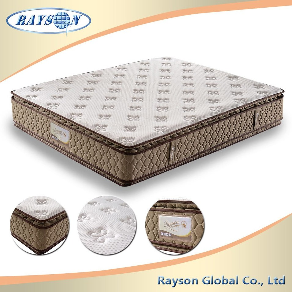 Japanese 2016 Thick Double Pillow Top Spring Mattress Wholesale
