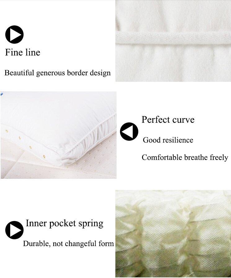 Rayson Mattress-Furniture bedroom Cervical Support Neck thai silk pillow case Cheap With Long Warran-8