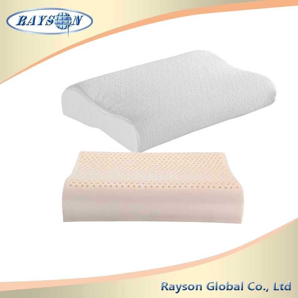 Custom Printed Natural Latex Foam Wholesale Pillow Cases With Knitted Fabric Cover