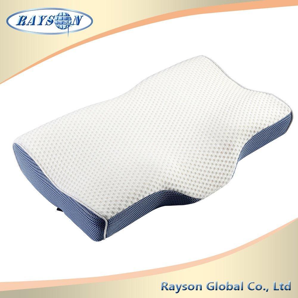 Wave Shape Anti-Bacteria Travel Memory Foam Neck Pillow