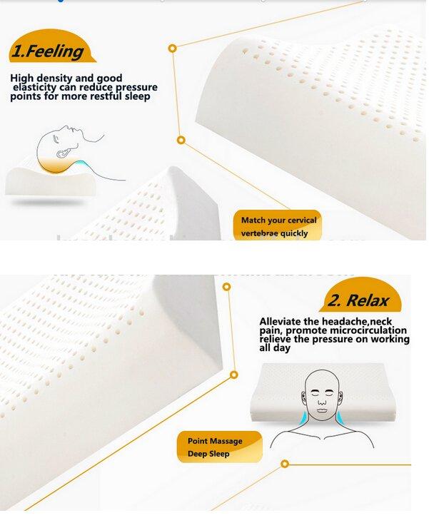 Rayson Mattress-Sleep Innovations Anti-Dust Health Latex Foam Rubber Pillow World-wide memory foam m-6