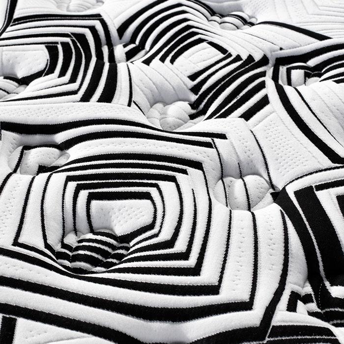 Grey Color Euro Top Bonnell Spring Mattress