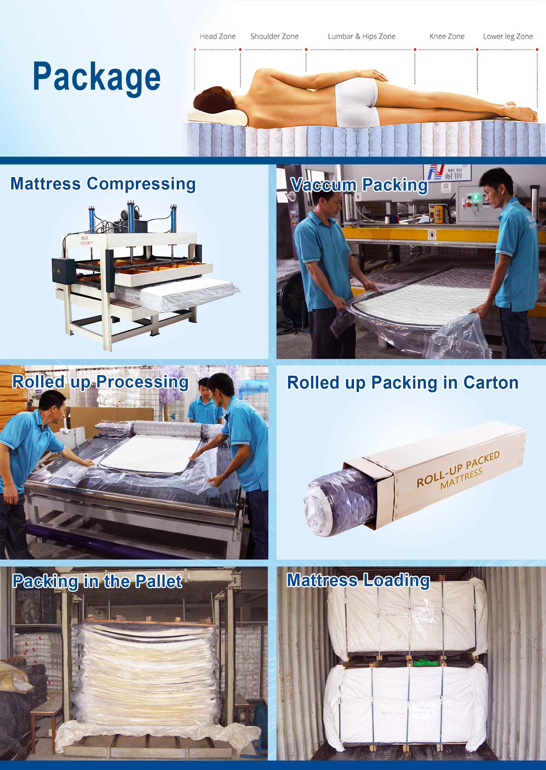 Rayson Mattress-Find New Pocket Sprung Mattress 9-zone Euro Top Latex Pocket Spring Bamboo-16