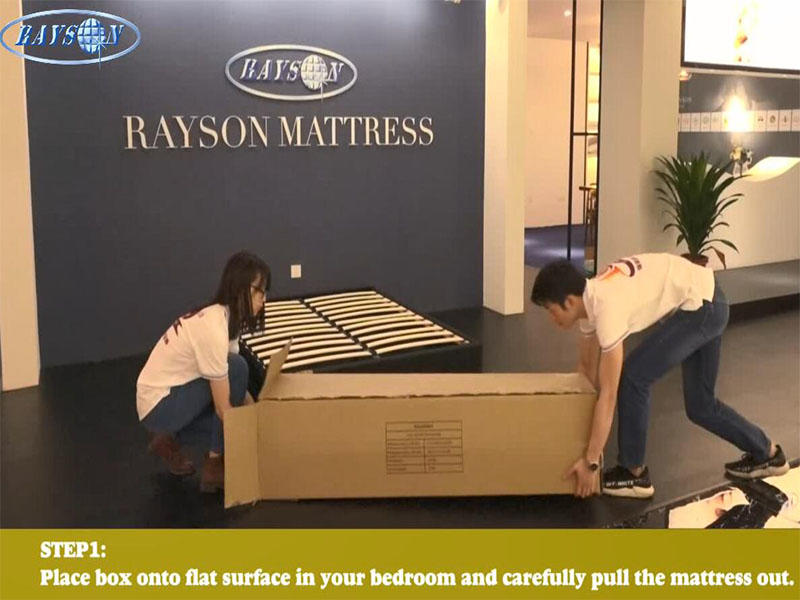 How to pack and unpack rolled mattress