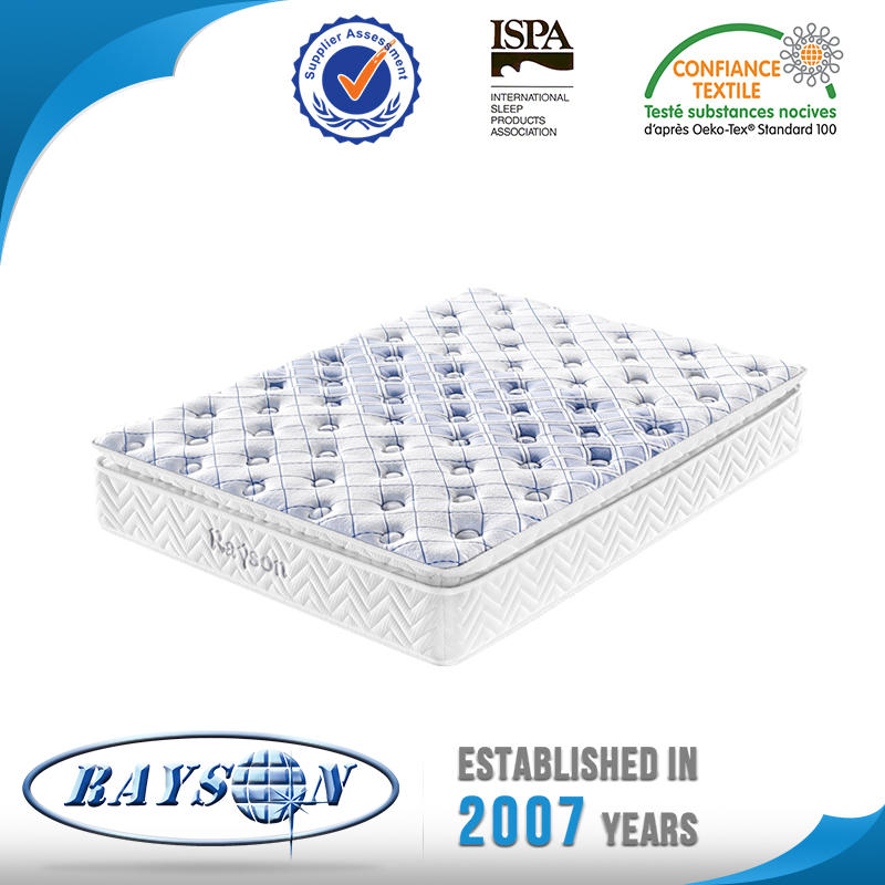 Latex Pillow Top 3 Zones Pocket Spring Mattress
