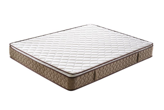 9in Comfortable Pillow Top White &brown Bonnell Spring Mattress
