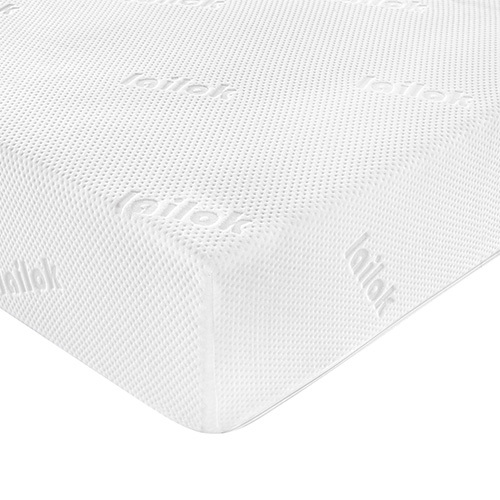 Queen size white roll up pocket spring mattress with memory foam layer