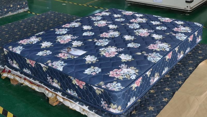 New design regular blue bonnel spring mattress supplier