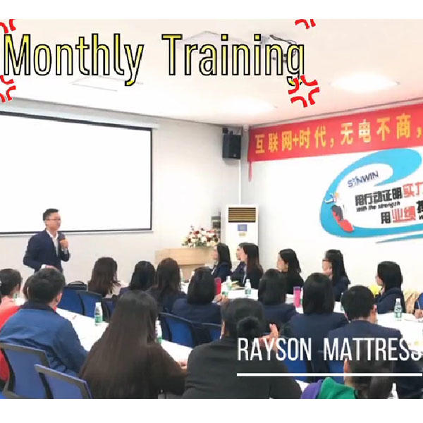 Rayson Mattress Team Monthly Training and Anual Gift Handing Out