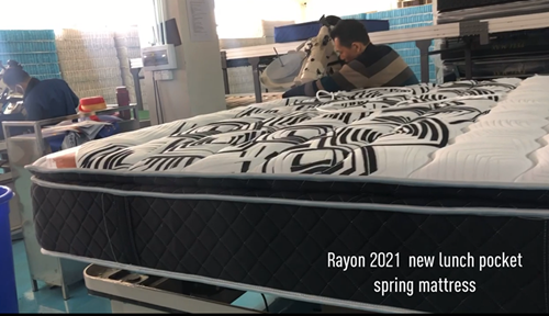 2021 new style comfortable 5 zones pocket spring mattress