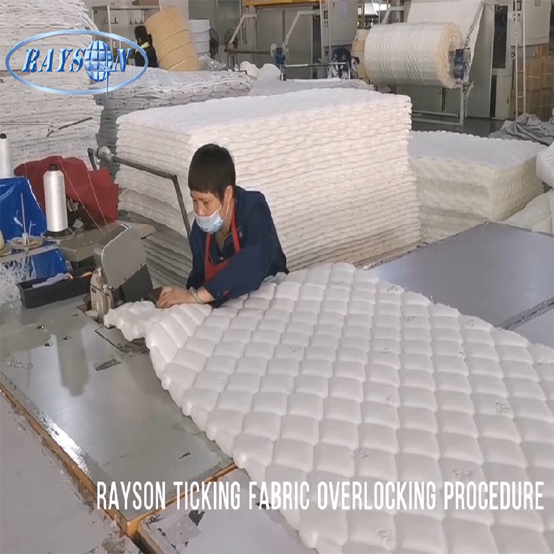 Rayson Mattress Ticking Fabric Overlocking Procedure