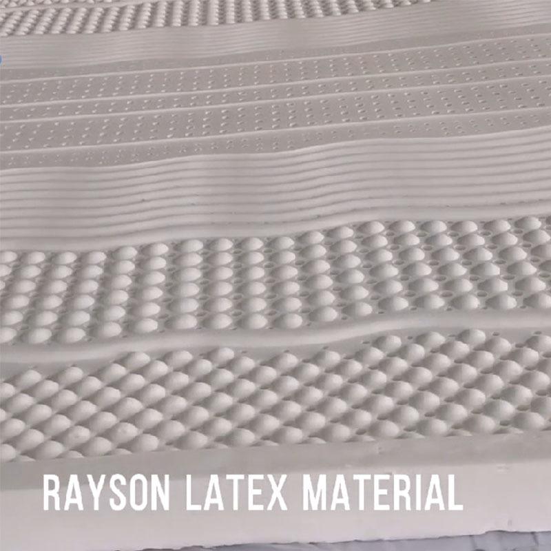 Rayson Mattress Latex Materials Display