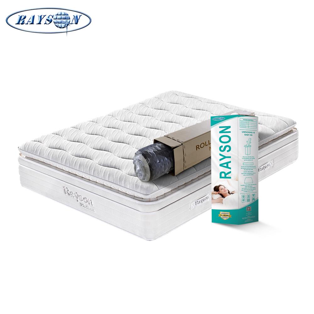 White plush hotel mattress queen size
