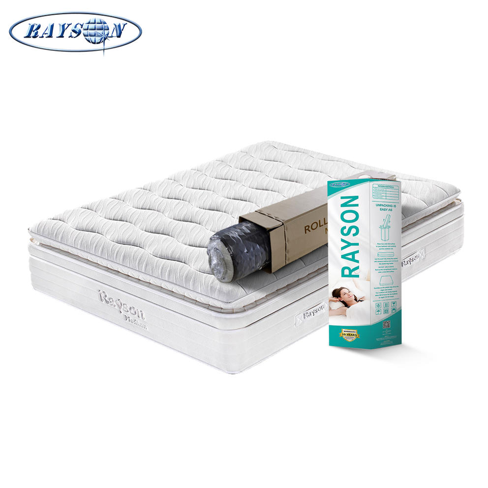 White plush hotel mattress queen size