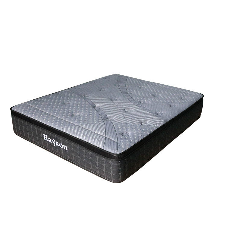 Gray queen latex luxury hybrid pocket spring mattress