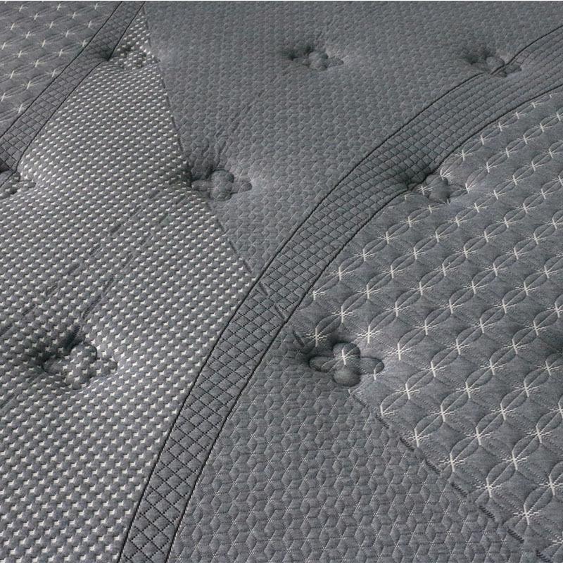 Gray queen latex luxury hybrid pocket spring mattress