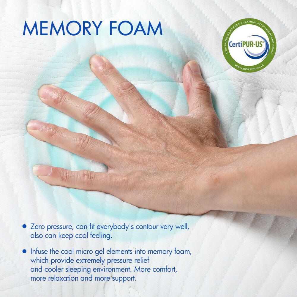 Memory Foam Mattress Medium Feeling Spring Sprung Orthopaedic Hotel Mattress