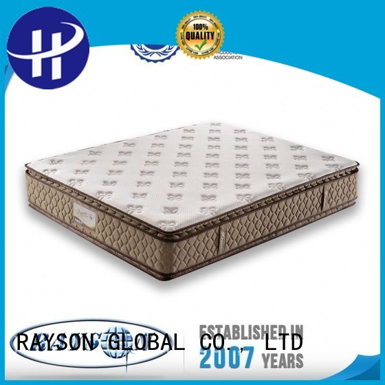 promotional double pocket sprung bamboo for villa Rayson Mattress