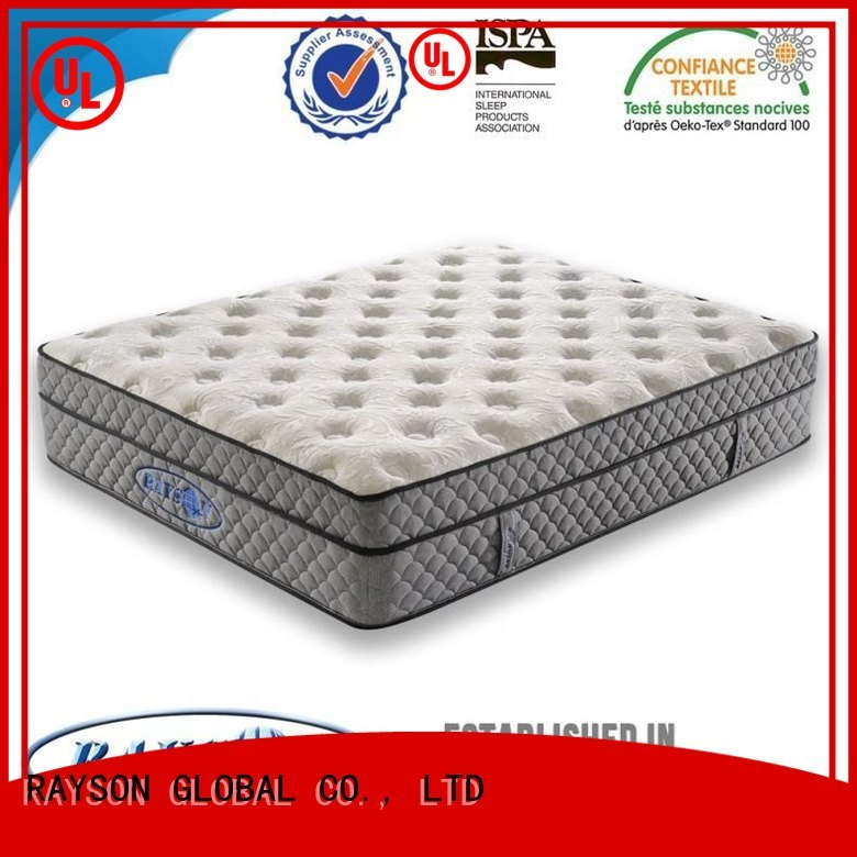 Rayson Mattress breathable deluxe bonnell mattress with memory foam manufacturer for villa