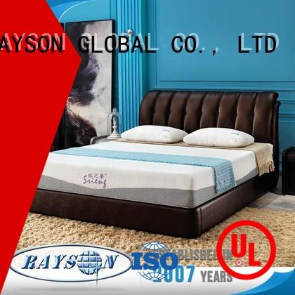 indeformable synthetic relax 12m Rayson Mattress Brand hotel bed base supplier