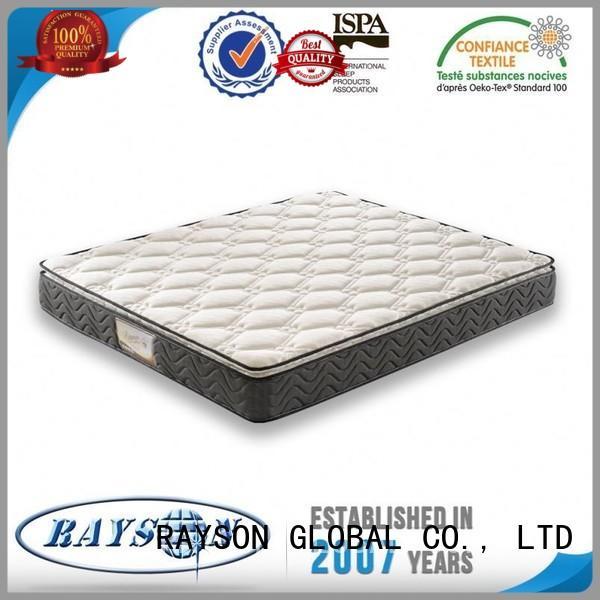Quality Rayson Mattress Brand luxury bonnell spring mattress pump