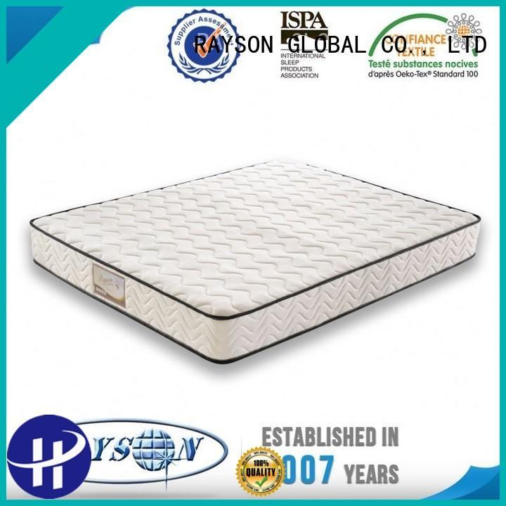 lowest compress top 10 pocket sprung mattress hole function Rayson Mattress company