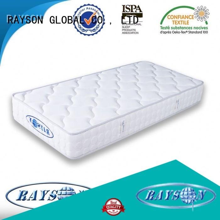 Rayson Mattress Brand bonnel waterproof plain continuous spring mattress manufacture