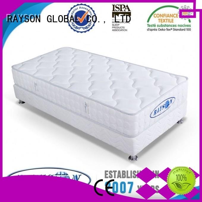 europen Custom layer continuous spring mattress silk Rayson Mattress