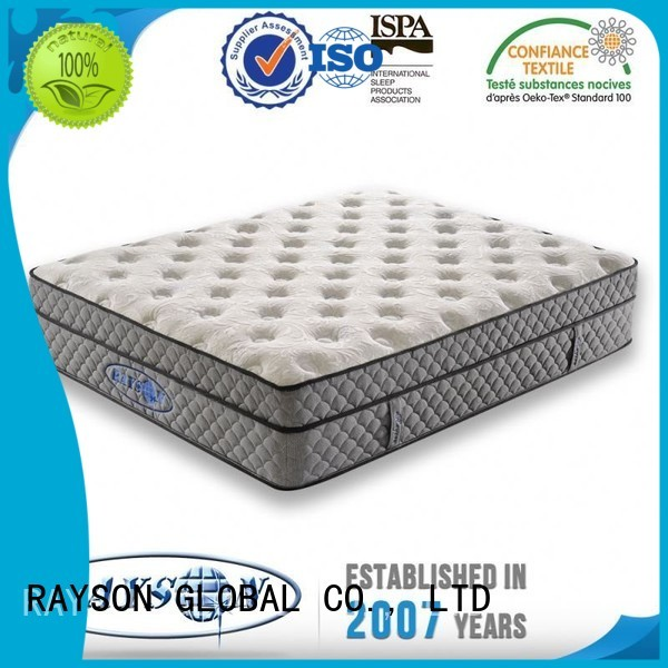 Rayson Mattress Brand apnea snore 145 cooling tufted bonnell spring mattress manufacture