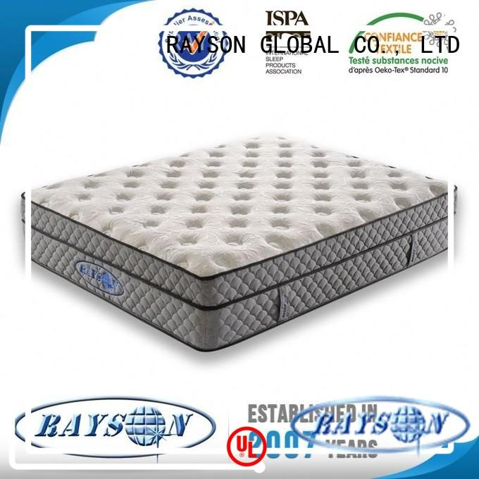 Quality Rayson Mattress Brand wooden cooling tufted bonnell spring mattress