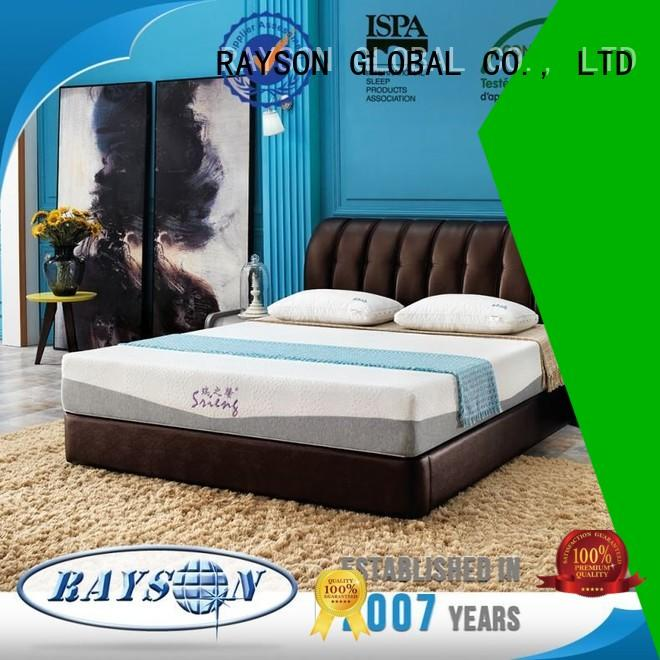 Rayson Mattress Brand mexican cot memory foam mattress and bed manufacture