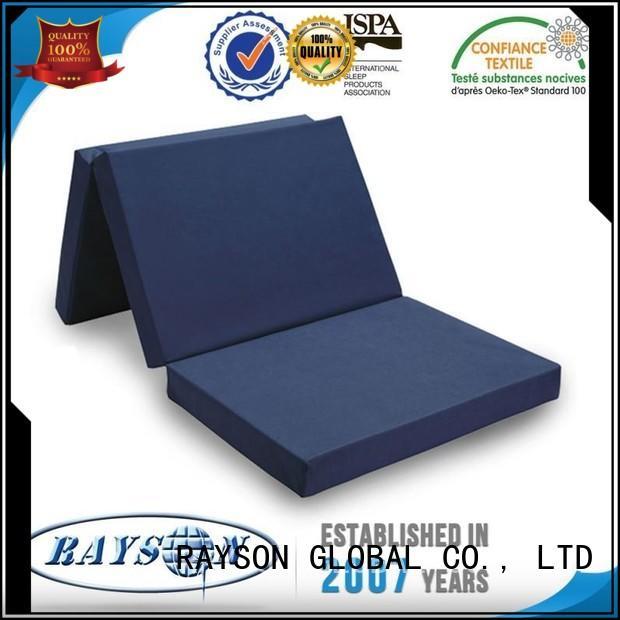 Hot massage poly foam mattress toppers ticking Rayson Mattress Brand