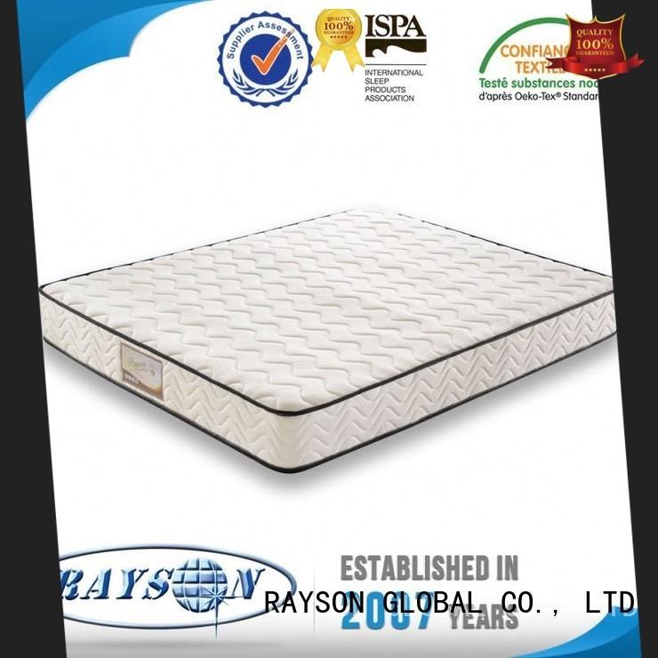 Rayson Mattress rolled pocket sprung double mattress best price manufacturers